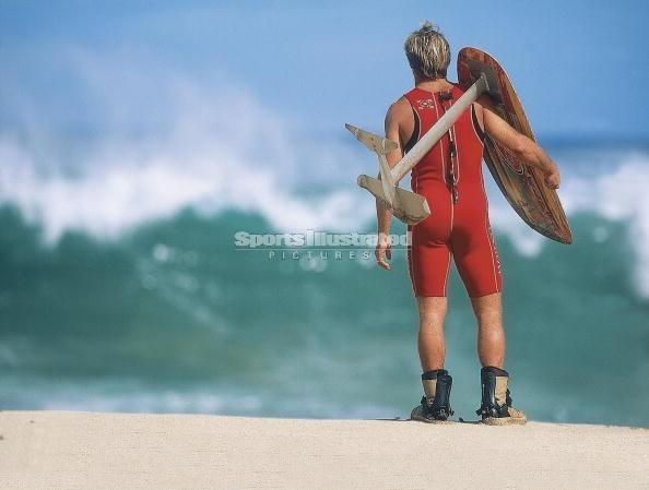 laird hamilton foil board surfing