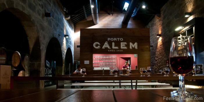 Calem wine cellar in Vila Nova de Gaia