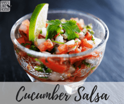 How to make the best cucumber salsa recipe - This simple and easy dip uses crisp, fresh veggies and spicy peppers for the ultimate salsa!