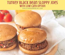 three black bean sloppy joes