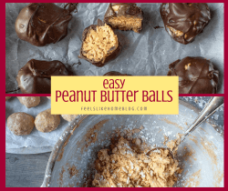 a collage of peanut butter dough and chocolate peanut butter truffles