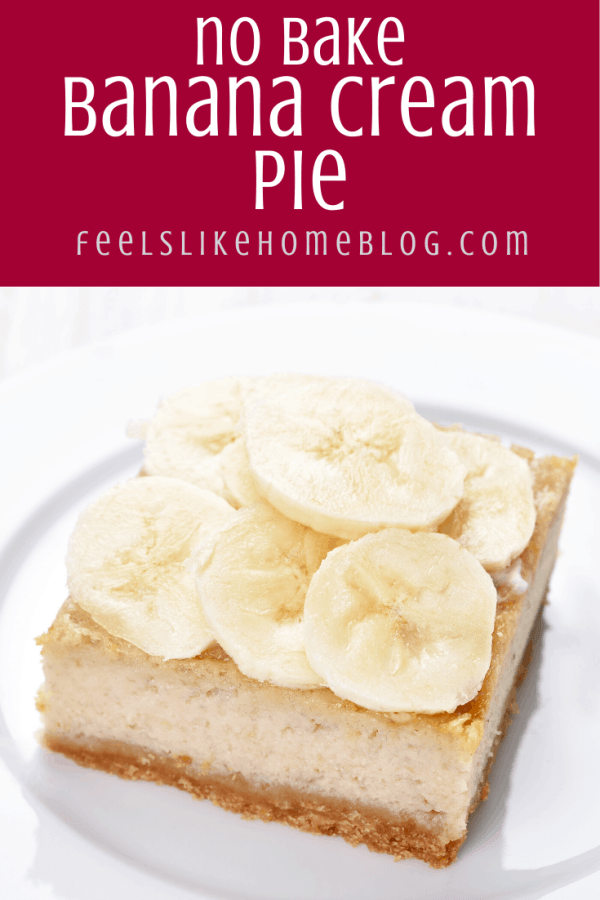 A slice of banana on a plate, with Pie and Cream
