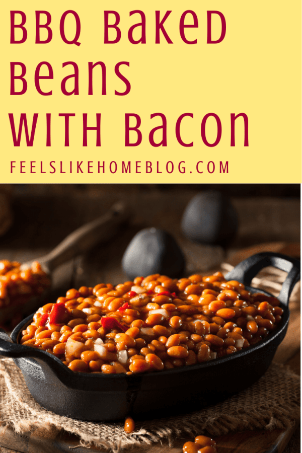 beans in cast iron dish