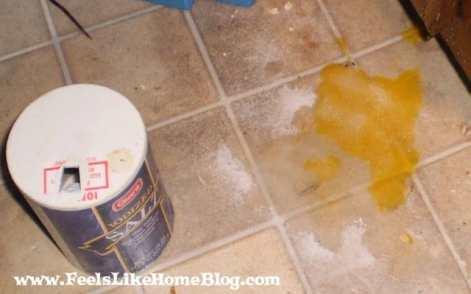 easy clean up for a broken egg