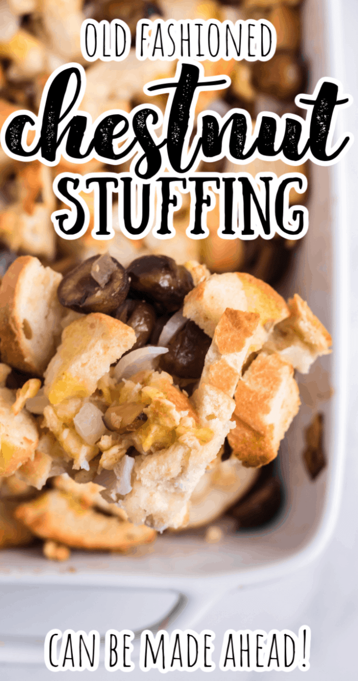 Homemade Old-Fashioned Chestnut Stuffing Recipe