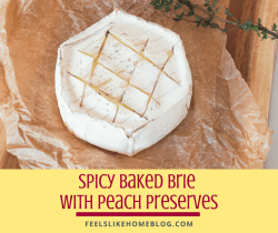 baked brie on brown paper