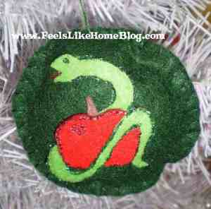 Adam & Eve and the Forbidden Fruit - Serpent ornament