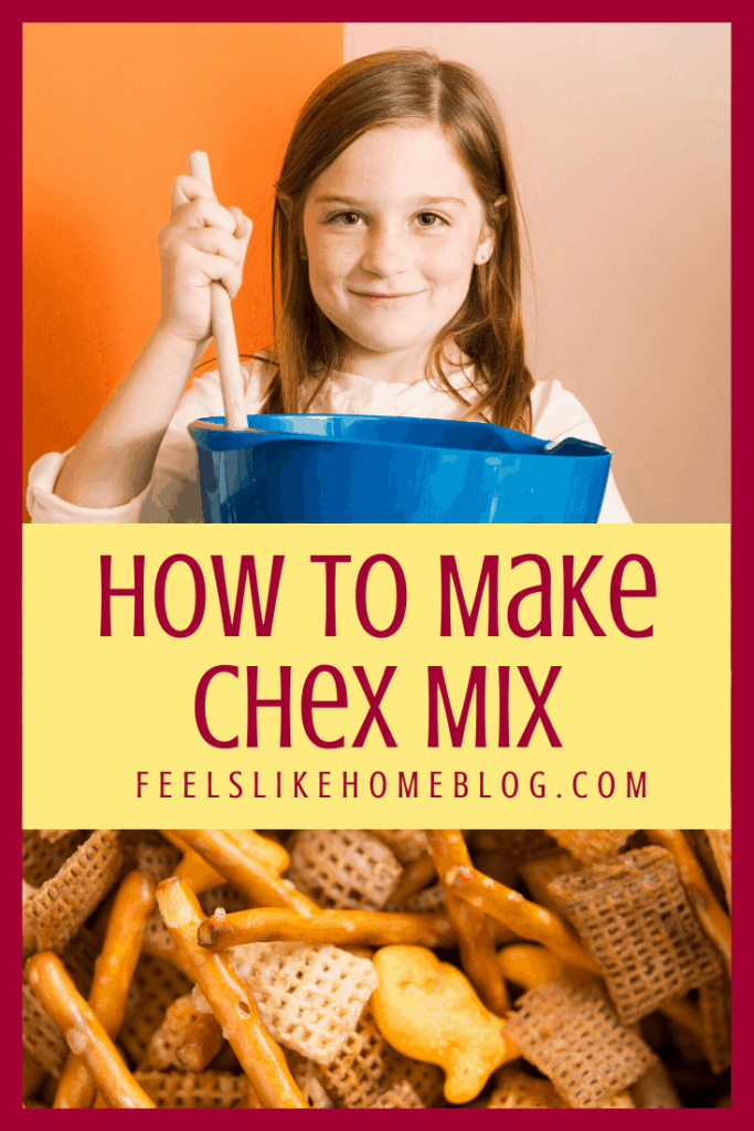 How to make the best savory Chex Mix. This simple and easy recipe is the original healthy traditional homemade snack mix with cereal, pretzels, and nuts. Baked in the oven.