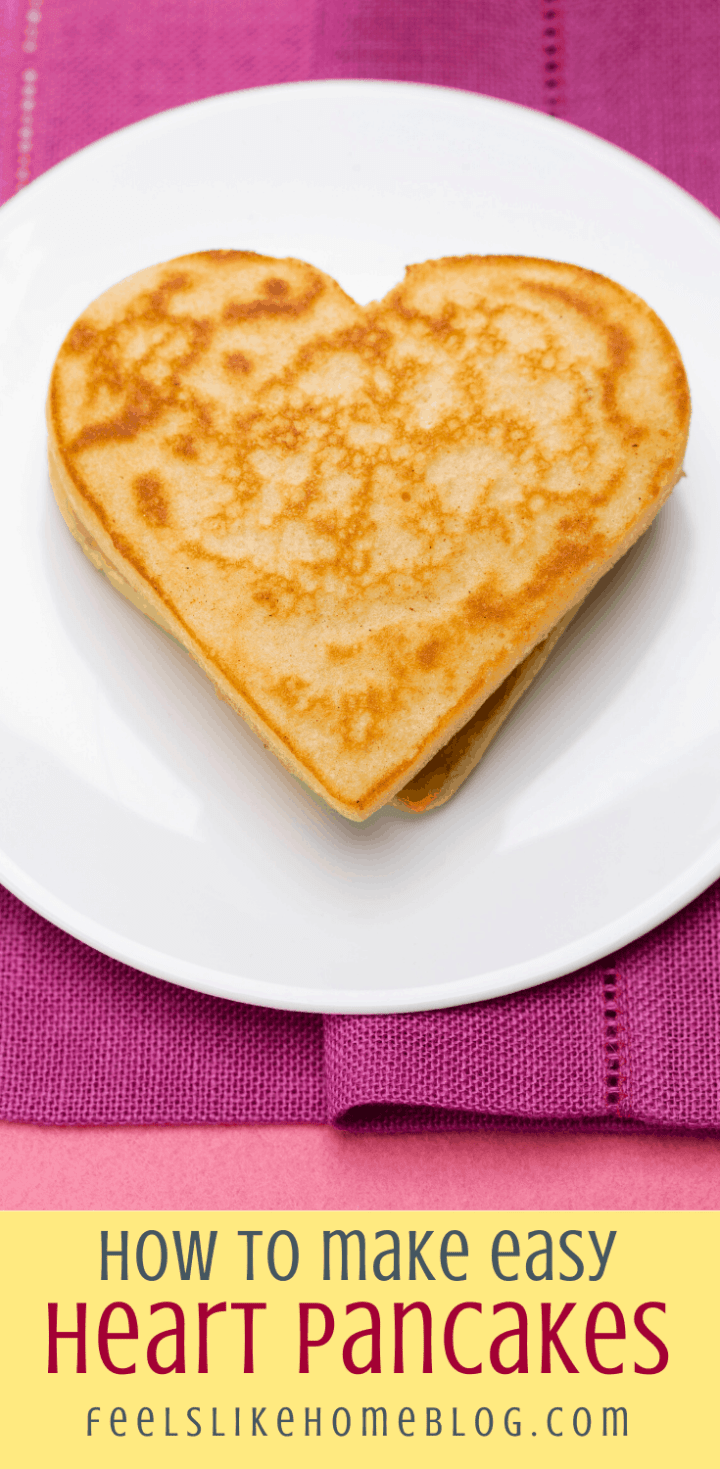 How to Make Heart-Shaped Pancakes with Chocolate Chips