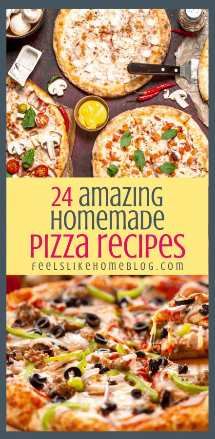 many different unique pizzas