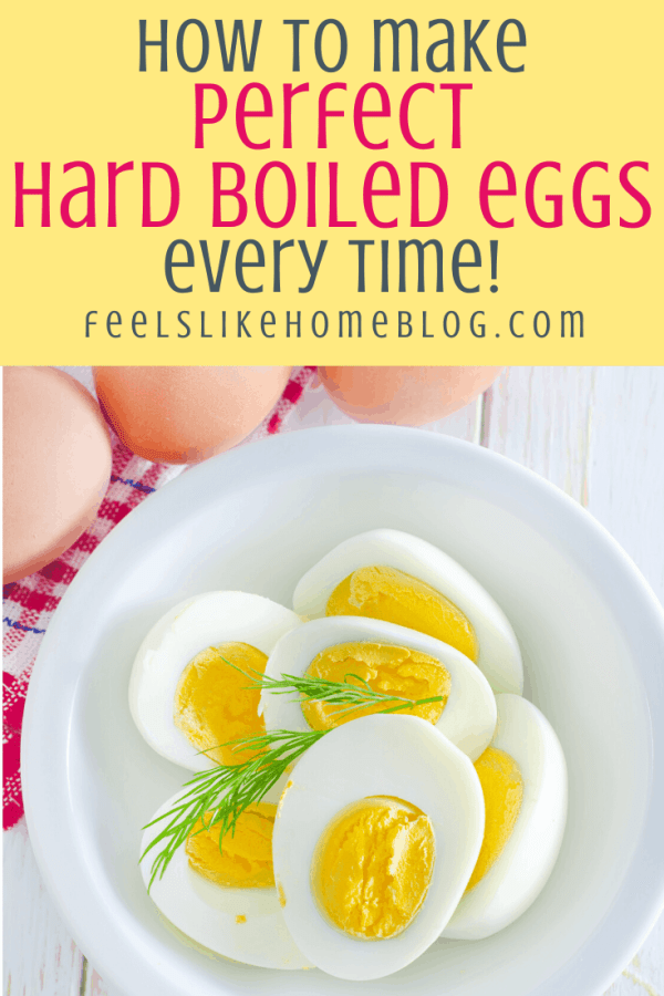 Perfect hard boiled eggs on a plate
