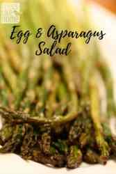 This gorgeous egg and asparagus salad with homemade lemon vinaigrette is the best spring recipe for Easter dinner or any weeknight or weekend evening. Roasted asparagus is so easy and delicious!
