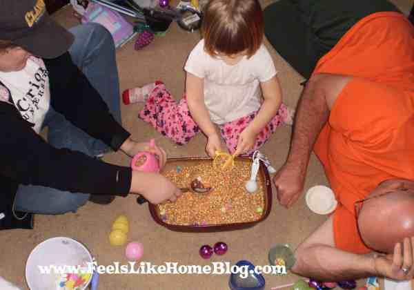 sensory tub for the whole family