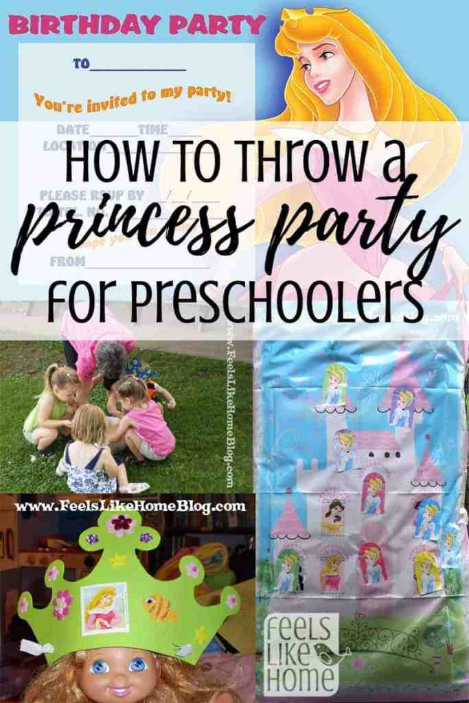princess party collage