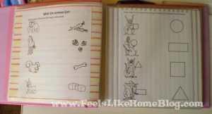 preschool activity book animals shapes page