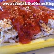 chicken and cheese stuffed zucchini