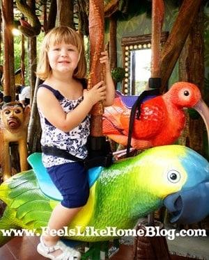 Rain forest carousel at the Philadelphia zoo