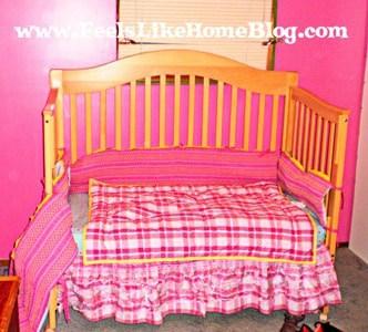 Kenneth Brown bedding and the hot pink walls