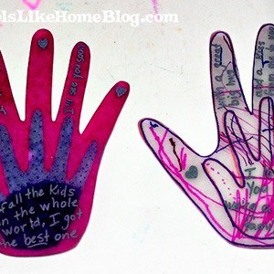 Shrinky Dink hands
