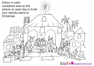 Coloring the Nativity