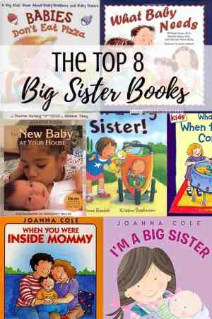 The best big sister books for when you have or are expecting a new baby - Older siblings need reassurance and gifts when the new baby comes. Children need reassurance that life will go on and older kids won't be forgotten. Reading stories about families like theirs will help a lot.