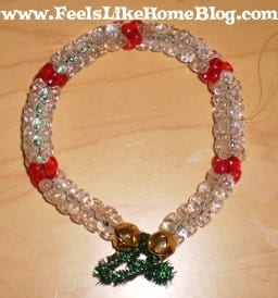 beaded wreath craft