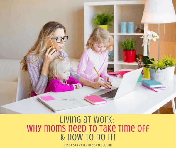 a mom working at home with two little girls