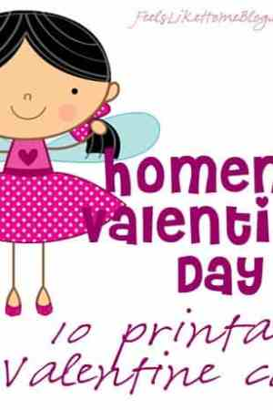 Homemade Valentine's Day - Printable Valentine Cards