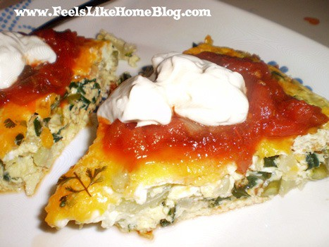 This spicy oven baked omelet or frittata is the perfect breakfast casserole because it is loaded with eggs, cheese, and veggies like bok choy, spinach, and onions. Would also be good with mushrooms. Gluten free and low carb, awesome for mornings. Simple and easy omelette for dinner, supper, or brunch. Could add bacon or baked ham for a little extra protein.