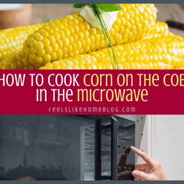 microwave and corn on the cob with butter