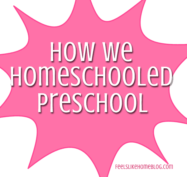 How to start homeschool preschool. Homeschooling for preschool is easy and fun and very inexpensive! Check out this post for lots of tips and resources for having fun with preschool right at home! Includes advice on curriculum (you don't need one), schedule, lesson plans, activities, and supplies. How to set up for toddlers or preschoolers for math, reading, Bible study, and other subjects. DIY, free, low cost, and easy.