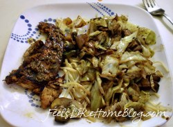 balsamic-chicken-with-cabbage-and-mushrooms