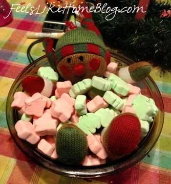 A bowl of marshmallow with the elf in it