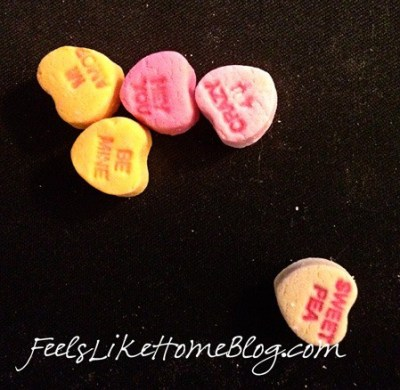 candy hearts activities - subtracting