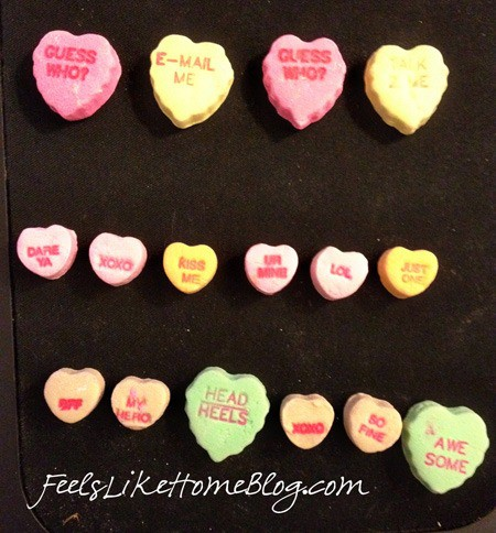 candy hearts activities - patterns