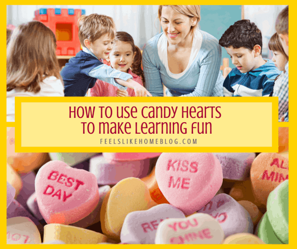 Candy hearts and a school teacher