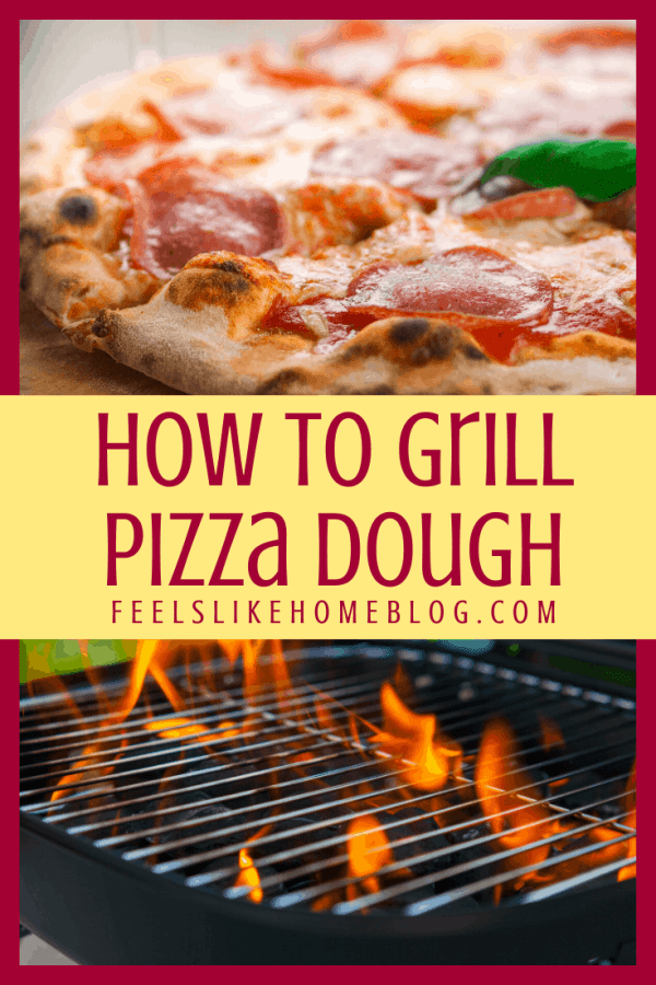 pepperoni pizza and fired grill