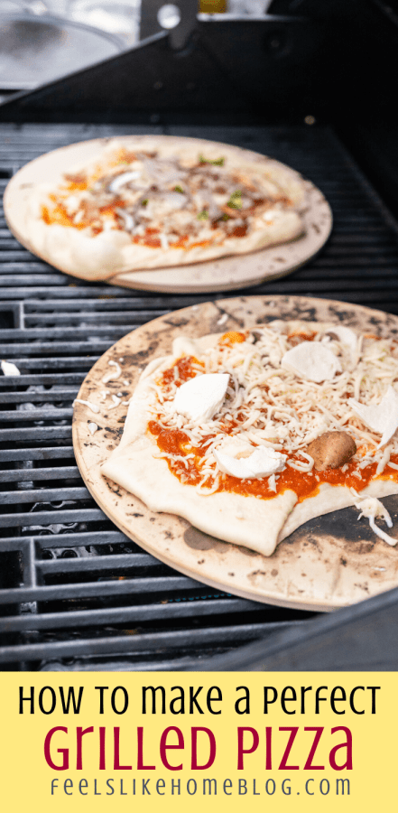 a close up of how to grill pizza dough