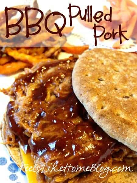 The best easy slow cooker BBQ pulled pork recipe - This simple recipe makes tender, juicy meat and will make lots of leftovers. It makes a perfect weeknight dinner because it's quick and easy thanks to the Crock Pot! Sugar-free barbecue sauce makes it very healthy and low carb.
