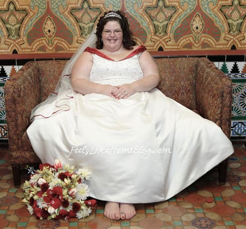 Tara Ziegmont in her wedding dress