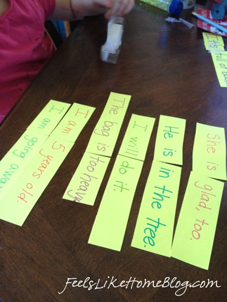 contractions-lesson-matching