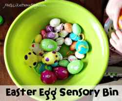Frugal Easter Egg Sensory Bin