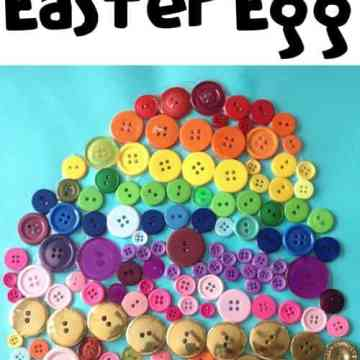 Rainbow Button Easter Egg Craft
