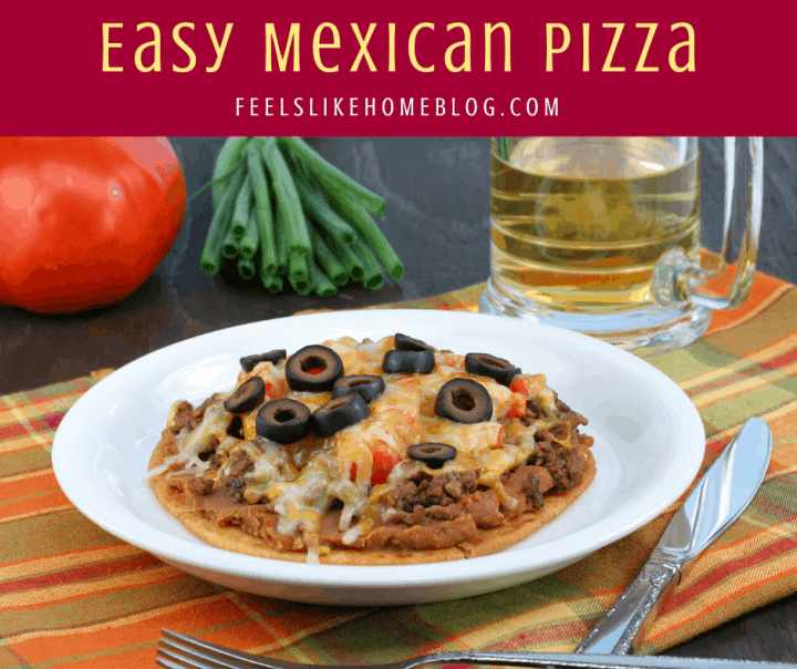 Mexican pizza on a plate