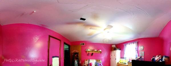 A pink bedroom