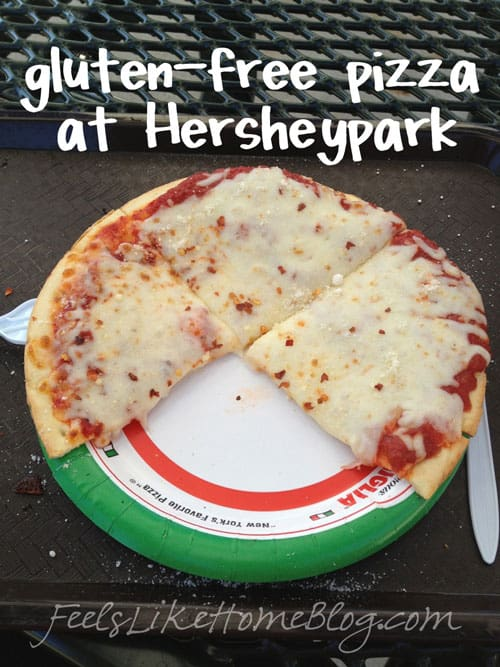 Gluten-free pizza at Hersheypark