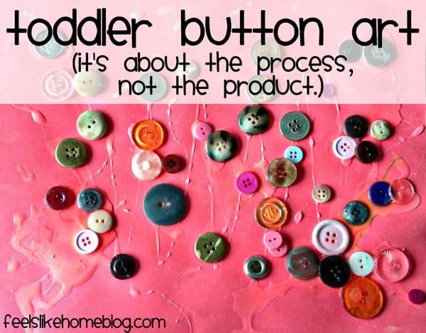 A close up of button art