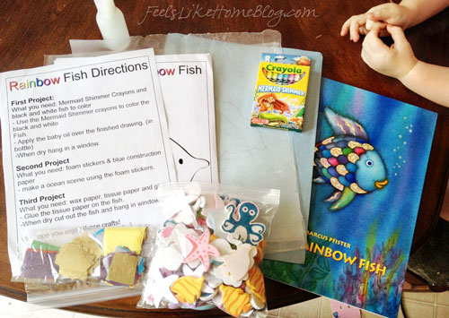 Craft materials for the activities