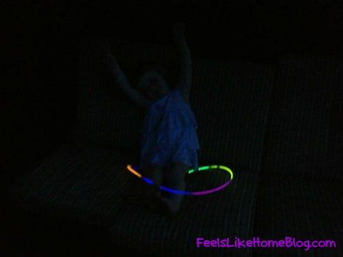 Glow in the dark ring toss