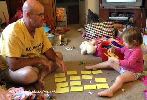 Homemade memory game